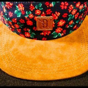 Dravus suede Bill flower print hat